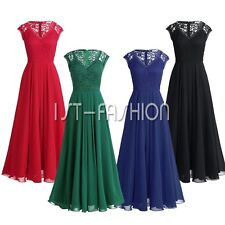 Women Maxi Formal Cocktail Evening Party Wedding Bridesmaids Long Lace Dresses