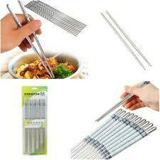 1/5 Pair Stainless Steel Chopsticks Chop Sticks Beautiful Gift Set Assorted Home