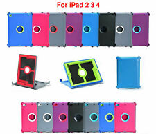 For Apple iPad 2 3 4 th Gen BLACK Case Cover [Stand Fits Otterbox Defender]
