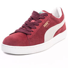 Puma Suede Classic Unisex Trainers Maroon New Shoes