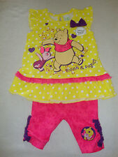DISNEY  POOH & PIGLET  2 piece  PLAY SET NWTS SO CUTE!! SHORTS & TOP 6-12 month
