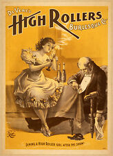 Photo Print Vintage Poster: Stage Theatre Flyer The High Rollers 01