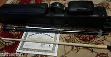 Dale Perry Billiards Cue Pool Ebony with Ivorine & Tulipwood Signed 1/1 & Case