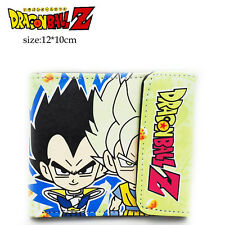 Anime Dragon Ball Z PU short wallet Super Saiyan Son Goku Son Gohan Vegeta
