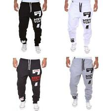 HipHop Men Letter Harem Casual Baggy Dance Jogger Sport Training Pants Trouser
