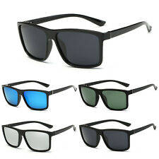 New Black Square Frame Polarized Sunglasses Driving Mens Designer Retro Eyewear