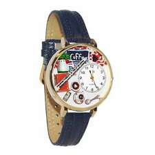 Coffee Lover Watch in Gold (Large) Whimsical Gifts G-0310006
