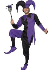 NEW Adult Funny Medieval Court Jester Mens Fancy Dress Stag Party Costume Outfit