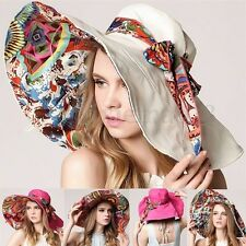 New Women Girl Sun Hat Summer Cap Brim Folding Wide Hat Large Straw Beach Floppy