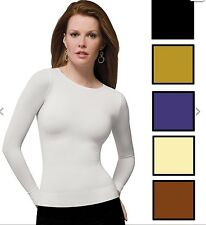 SPANX 977 On Top and In Control  Classic Long Sleeve Crew Compression Slimming