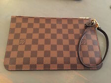Louis Vuitton Pochette/ Wristlet from Neverfull Damier barely used