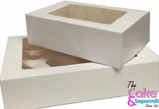 6 or 12 Hole Cupcake Muffin Box with Clear Window 3inch Deep