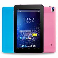 Android Tablet PC 9'' inch 4.4 Quad Core A7 Dual Camera 8GB WiFi Pink/Blue XGODY