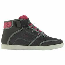 Airwalk Malibu Mid Top Skate Shoes Womens Gry/Mnt/Pnk Trainers Sneakers Footwear