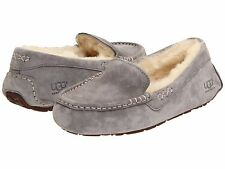 Women's Shoes UGG Ansley Moccasin Slippers 3312 Light Grey 5 6 7 8 9 10 *New*
