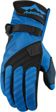 Icon Raiden Mens Blue/Black Textile DKR Dual Sport Motorcycle Gloves