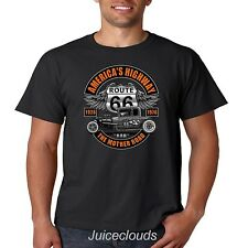 Classic Car T Shirt Americas Highway Route 66 The Mother Road Hot Rod
