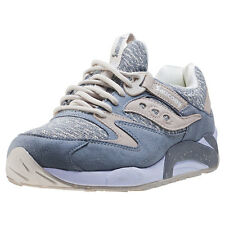 Saucony Grid 9000 Knit Pack Mens Trainers Grey New Shoes