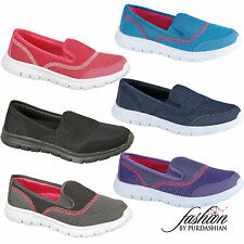 Ladies Gym Shoes Air Tech Trainers Flat Slip On Casual Lightweight Sports Pumps