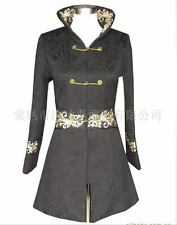 Black Chinese Women's thickening jacket/coat Cheongsam Sz 8 10 12 14 16