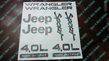 1997-2002 JEEP WRANGLER Sport 4.0L HIGH OUTPUT Replacement fender Decal sticker
