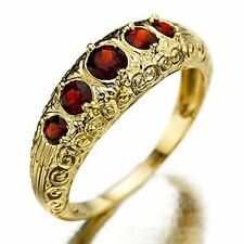 New Red Garnet 10KT Gold Filled Women's Ring Size 7,8  Fashion Wedding Jewelry