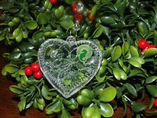 Waterford Crystal Heart Our First Christmas Ornament  2009 NIB SEE LISTING