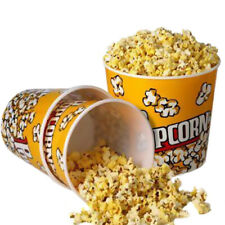 Novelty Place Plastic Popcorn Buckets Large Reusable Containers for Movie Night