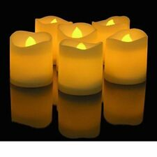 Novelty Place 12pcs LED Flickering Votive Candles Flameless Tealight Tea Candle