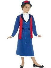 Girl's Victorian Nanny Fancy Dress Costume