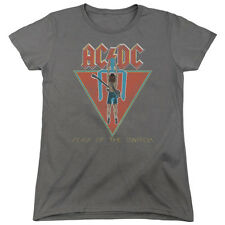 ACDC AC-DC Rock Band FLICK OF THE SWITCH Vintage Style Women's T-Shirt All Sizes
