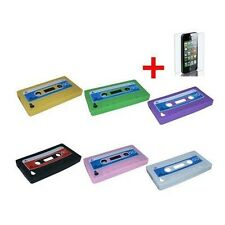 Retro 3D Cassette Silicone Cover Case Cell Phone Accessories for Apple 4S