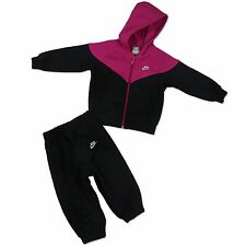 Nike Children Baby Jogger Tracksuit Sports Suit Jacket+Trousers Black Purple