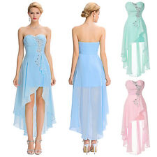 High Low Prom Dress Bodycon Lace Bridesmaid Evening Sexy Party Cocktail Dress