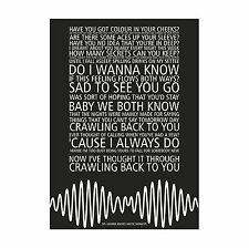 Arctic Monkeys AM - Do I Wanna Know? - Song lyric poster typography art print