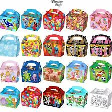 KIDS CHILDRENS GIFT LUNCH PARTY BOX BOXES BLUE PINK RED GOLD BIRTHDAY WEDDING