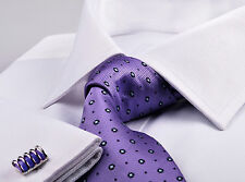 White Wrinkle Free Business Dress Shirt Luxury Formal Mens Fashion Spread Collar