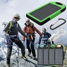 Waterproof 20000mAh Solar Power Bank Charger Portable 2USB & LED Light For Phone