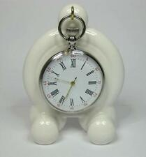Art Deco WHITE Ceramic, china Pocket watch stand watch display stand (2 colours)