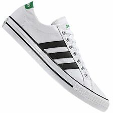 ADIDAS NEO LABEL CANVAS VL 3 STRIPES TRAINERS LIFESTYLE SHOES WHITE BLACK