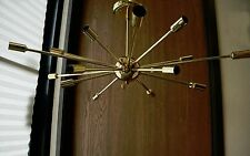 POLISHED BRASS ATOMIC SPUTNIK STARBURST CHANDELIER MID CENTURY MODERN