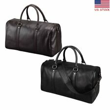 Mens Genuine Leather Duffle Gym Travel Bag Luggage Handbag Shoulder Weekend Tote