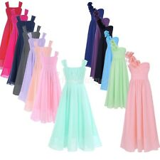 Kids Birthday Gown Flower Girl Princess Chiffon Wedding Pageant Party Tutu Dress