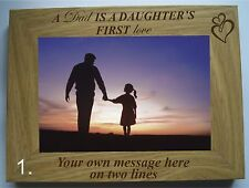 "PERSONALISED LASER ENGRAVED FATHER'S DAY 6"" X 4"" PHOTO FRAME"