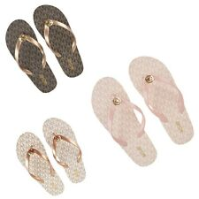Michael Kors EVA Flip Flops Women Sandals Slide Thongs PVC Bath Shoes MK Charm