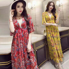 2PCs dress + strapless Hippie Floral Embroidered Boho Ethnic Festival maxi DRESS