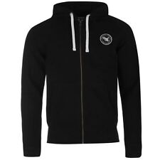 SoulCal Signature Full Zip Hoody Mens Black Hoodie Sweatshirt Jacket