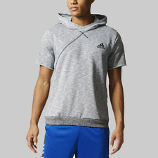 Adidas Men's Cross UP SS Men's Hoodie- Light Grey BR7930 (NEW) Lists @ $90