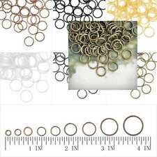 30g Approx120-1860pcs Silver&Gold Open Jump Rings 3-14mm Fit Jewelry Findings
