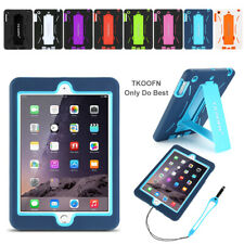 Kids Heavy Duty Case Shock Proof Stand Cover For Apple iPad 4/3/2 Mini Air